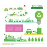 Corn ethanol biofuel vector icon. Alternative environmental frie. Vector corn ethanol biofuel vector icon. Alternative environmental friendly fuel Royalty Free Stock Photos