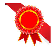 Vector corner ribbon and quality certificate. Stock Images