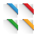Vector corner ribbon set Stock Photo