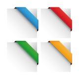 Vector corner ribbon set Stock Photo