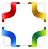 Vector corner ribbons. Royalty Free Stock Image