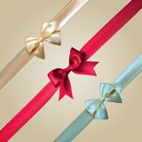 Vector Corner Ribbons And Bows Set Stock Photo