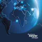 Vector Corporate Business Background with Earth Globe Stock Photos