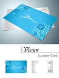 Vector corporate business card. Vector graphic shapes corporate business card Royalty Free Stock Photos