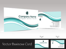 Vector corporate business card Royalty Free Stock Photo