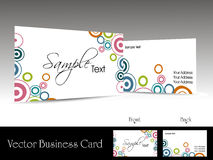 Vector corporate business cards. Collection of corporate business cards royalty free illustration