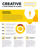 Vector corporate business template infographic with light bulb, Royalty Free Stock Photography