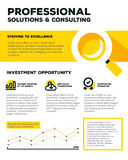 Vector corporate business template infographic with line graph, Stock Image