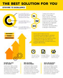 Vector corporate business template infographic with yellow arrow Stock Photo