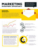 Vector corporate business template infographic with yellow envel Stock Image