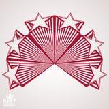 Vector corporate design element, celebrative stars. Web emblem. Union and solidarity theme, eps8 3d heraldic object. Festive aristocratic symbol Stock Photos