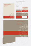 Vector Corporate design template on floral background Royalty Free Stock Images