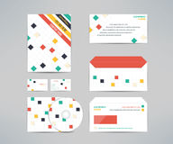 Vector corporate identity business kit with cd dvd Stock Photo