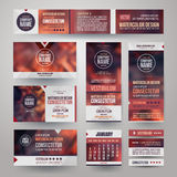 Vector Corporate identity templates Stock Images