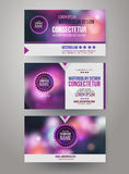 Vector Corporate identity templates Royalty Free Stock Image