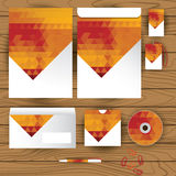 Vector corporate identity, triangle pattern design, geometric Royalty Free Stock Photo