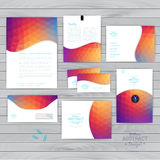 Vector corporate identity, wave pattern. Abstract backdrop.Geome Stock Image