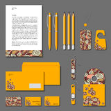 Vector corporate identity yellow poligonal design. Royalty Free Stock Image