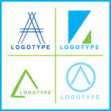 Vector corporate Logos. A set of illustrated corporate logos, isolated on a white background Royalty Free Stock Photos