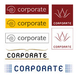 Vector Corporate Logos. A set of illustrated corporate logos, isolated on a white background Royalty Free Stock Photography