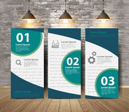 Vector corporate poster in crack brick wall room Royalty Free Stock Photo