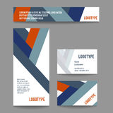Vector corporate template with stripes Royalty Free Stock Images
