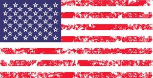 Vector correttamente la bandiera di U.S.A. nel colore oficcial, proporzione Bandiera nazionale americana, simbolo di festa dell'i Fotografie Stock Libere da Diritti