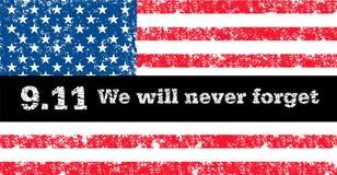 Vector correttamente la bandiera di U.S.A. nel colore oficcial, proporzione Bandiera nazionale americana, simbolo di festa dell'i Fotografia Stock Libera da Diritti