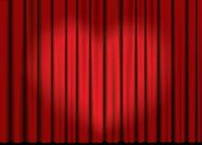 Vector a cortina com projector do coração foto de stock royalty free