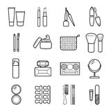 Vector cosmetic icons set. Royalty Free Stock Image