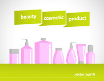 Vector cosmetic package  on white background. Stock Photos