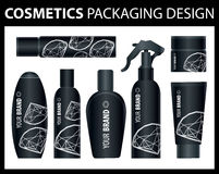 Vector cosmetic packages Stock Photography