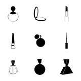 Vector cosmetics icons set Stock Photo