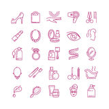 Vector cosmetics line icons Royalty Free Stock Images
