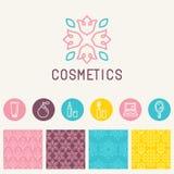 Vector cosmetics logo design element Stock Images