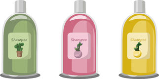 Vector Cosmetics set package. Hydration shampoo strawberry fruit fragrance. Perfect for advertising, flyer, banner. Poster. Pink color 2d illustration Royalty Free Stock Images