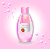 Vector Cosmetics set package. Hydration shampoo strawberry fruit fragrance. Perfect for advertising, flyer, banner. Vector Cosmetics set package. Hydration Royalty Free Stock Image