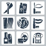 Vector cosmetology icons set Royalty Free Stock Photo