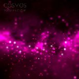 Vector cosmos illustration with stars and galaxy. On dark background Stock Photos