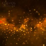 Vector cosmos illustration with stars and galaxy. On dark background Royalty Free Stock Photos