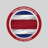 Vector Costa Rica Independence Day 15 September Celebration Card. For web design and application interface, also useful for infographics. Vector illustration Stock Illustration