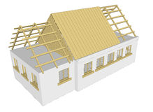 Vector cottage white house Royalty Free Stock Photos