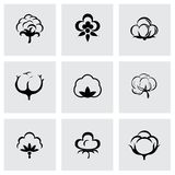Vector cotton icon set Royalty Free Stock Photography
