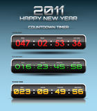 Vector countdown timer. (watch, scoreboard Stock Images