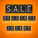 Vector countdown timer sale Stock Photography