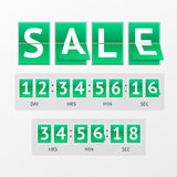 Vector Countdown Timer Sale Royalty Free Stock Photography
