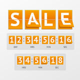 Vector Countdown Timer Sale Royalty Free Stock Photo
