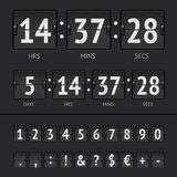 Vector countdown timer and scoreboard numbers. Black countdown timer and scoreboard numbers. Vector EPS10 illustration Royalty Free Stock Photos