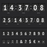 Vector countdown timer and scoreboard numbers Royalty Free Stock Photography