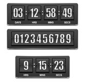 Vector countdown timer. Under construction sign bo Stock Photos